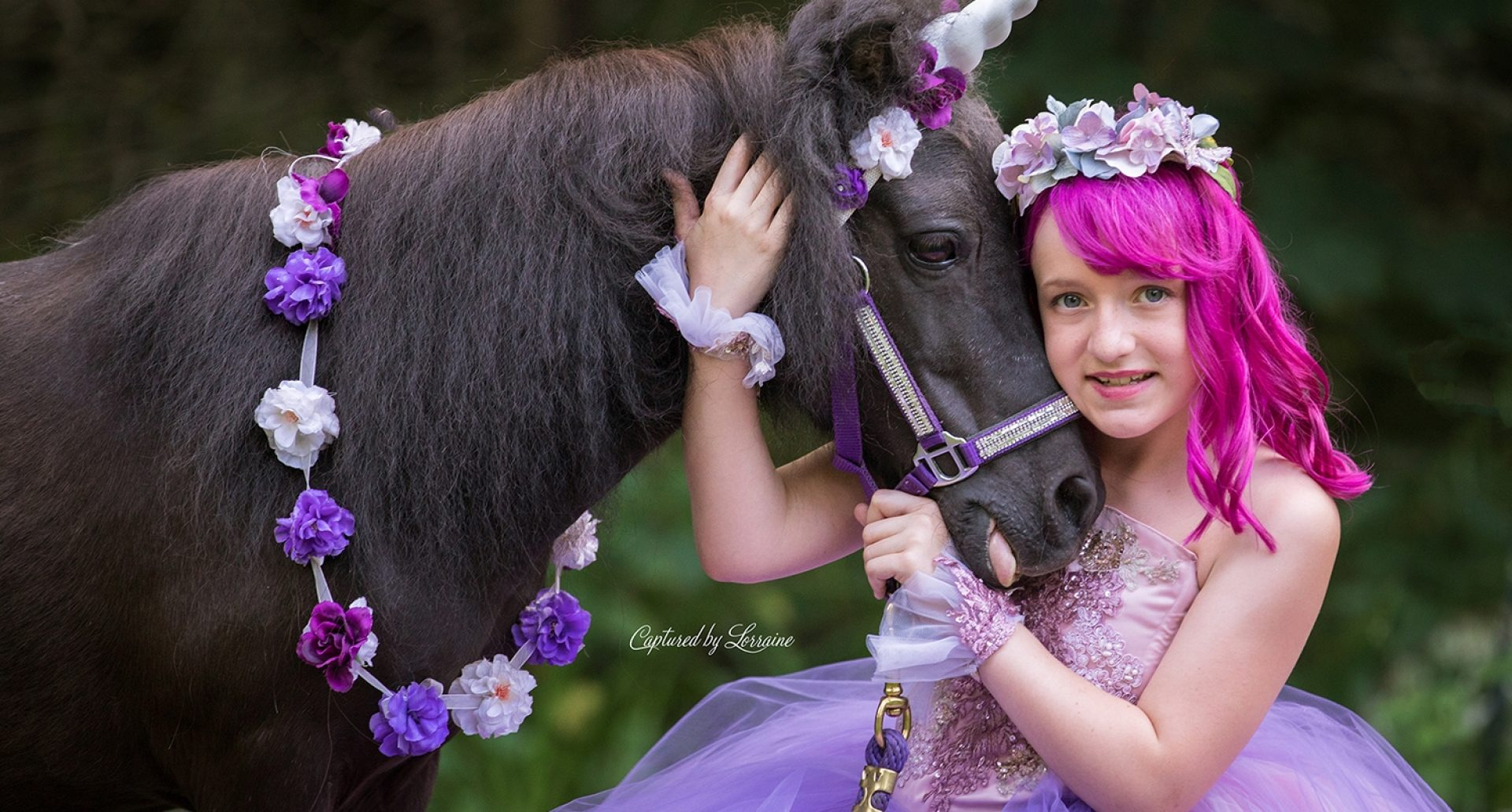 Unicorn Photo shoot Huntley Illinois